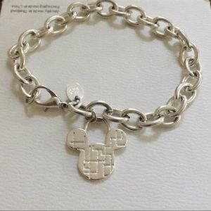 925 chain link Mickey Mouse charm bracelet